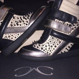 Women's Spiked Wedge Sneakers